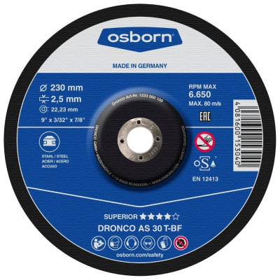 DISQUE A TRONCONNER DEPORTE 230X2.2X22.2  AS30 T INOX 1231-905.100