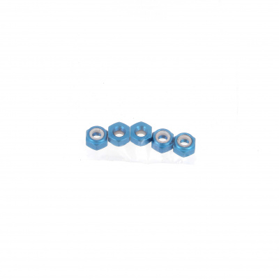 Blister pack of 5 Nuts, Nylstop Dural 2030 OA, Blue
