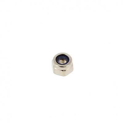 Nylstop Nut, Nickel-Plated Brass, DIN 985
