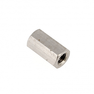 Coupling Nut, 3D, A2 Stainless Steel DIN 6334