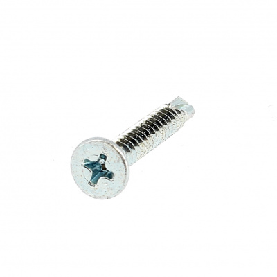 Self-drilling, Countersunk Head, Phillips, White Zinc Steel, DIN 7504O
