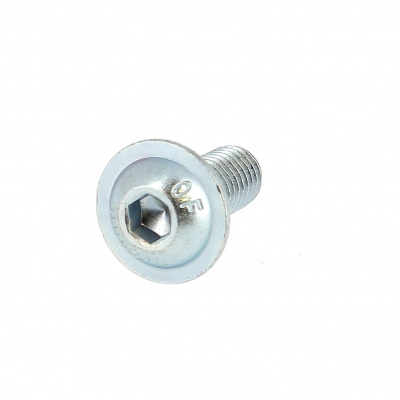 Hex Socket Button Head Collar Screw, White Zinc Steel