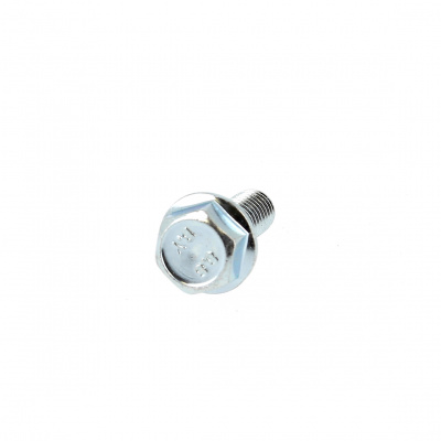 Hex Head, Toothed Flange, White Zinc 8.8 Steel, DIN 6921