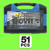 Set of 51 pieces (Metal drills, wood drills , bits)